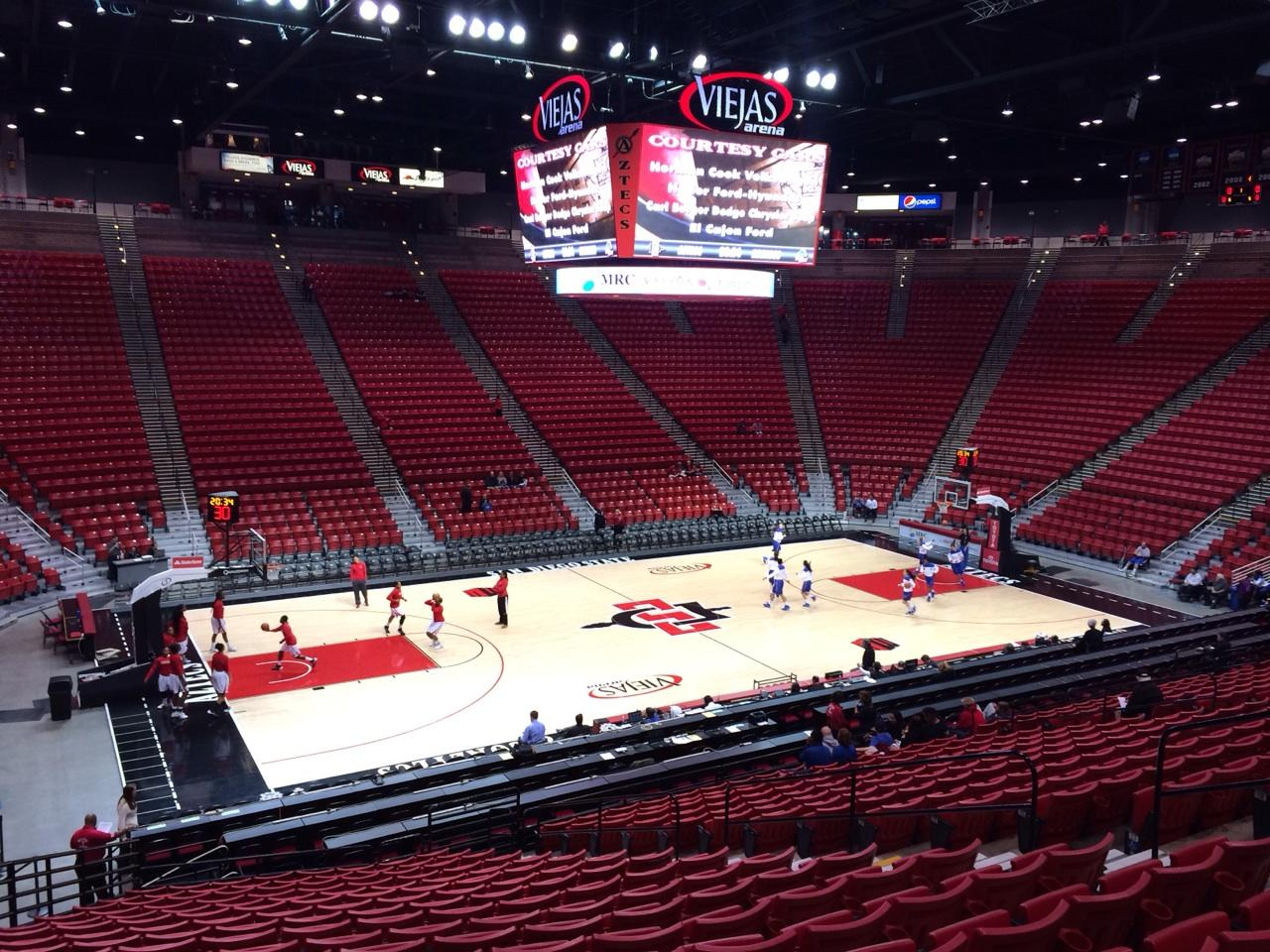 Viejas Arena Section P Row 23 Seat 12