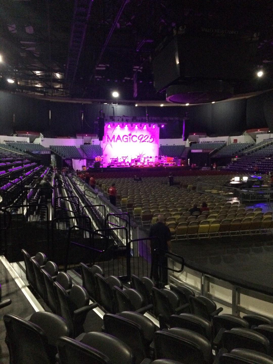 Valley View Casino Center Section LL21a Row 7 Seat 5