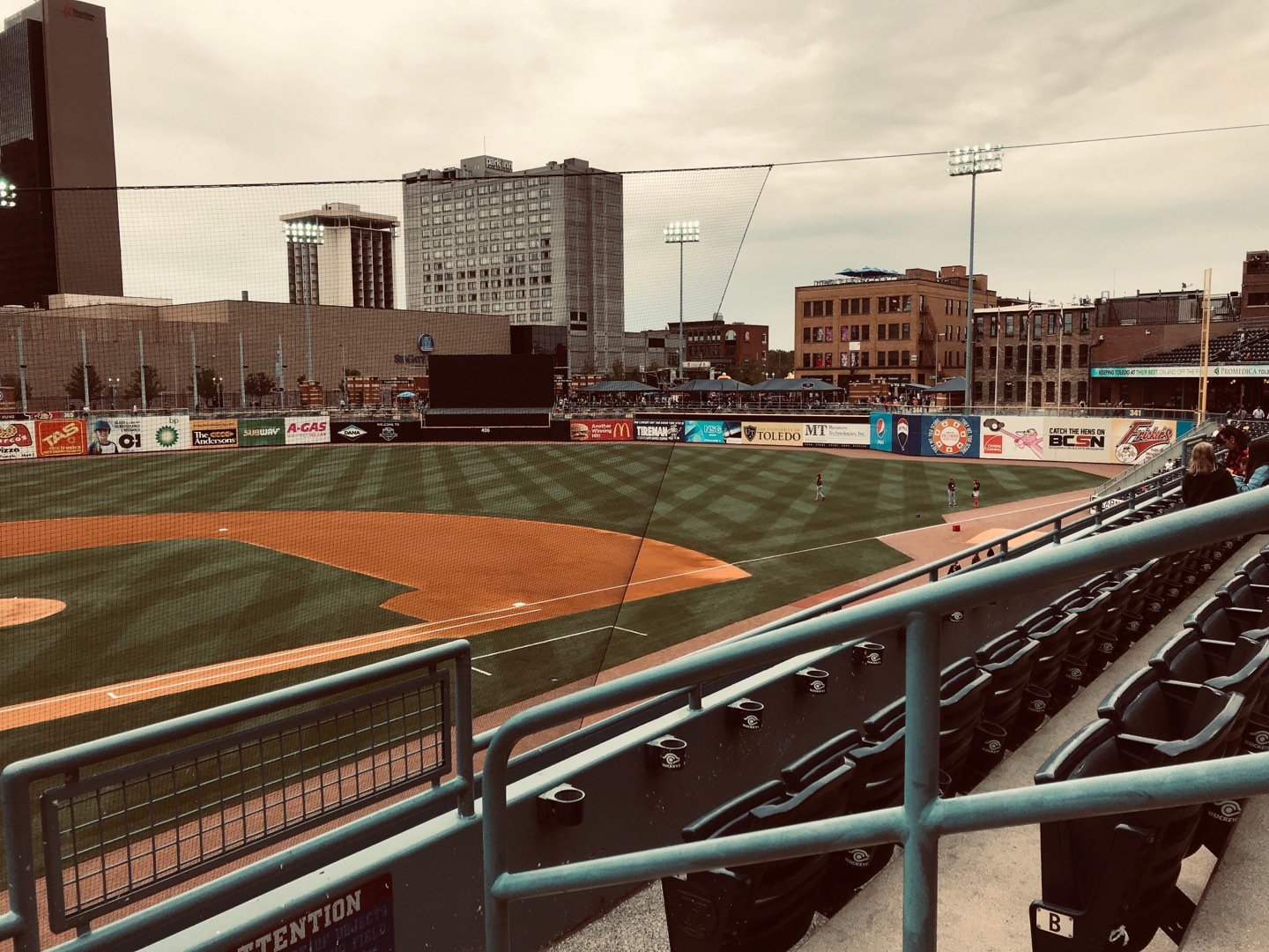 Fifth Third Field Section 212 Row C Seat 1