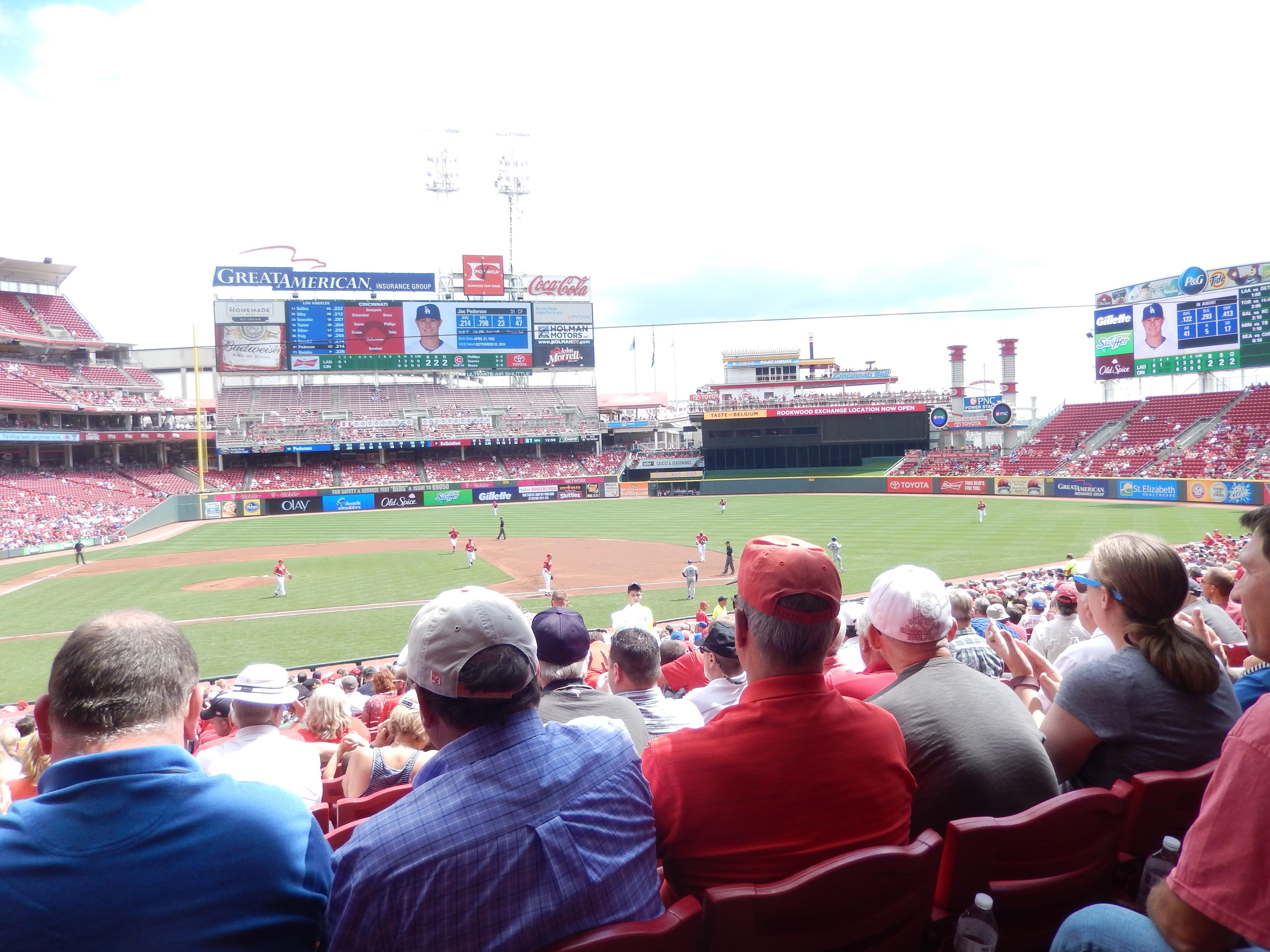 Great American Ball Park Section 129 Row FF Seat 9