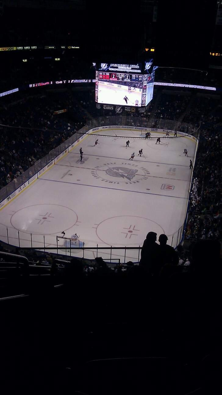 Amalie Arena Section 307 Row N Seat 26