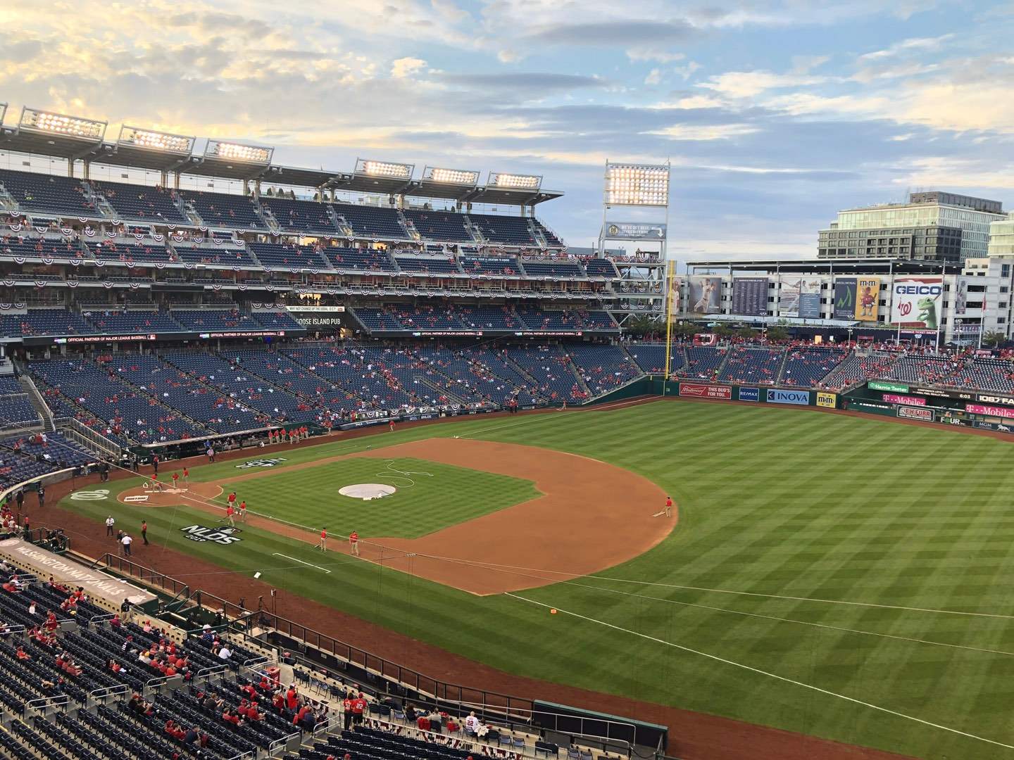 Nationals Park Section 222 Row A Seat 1