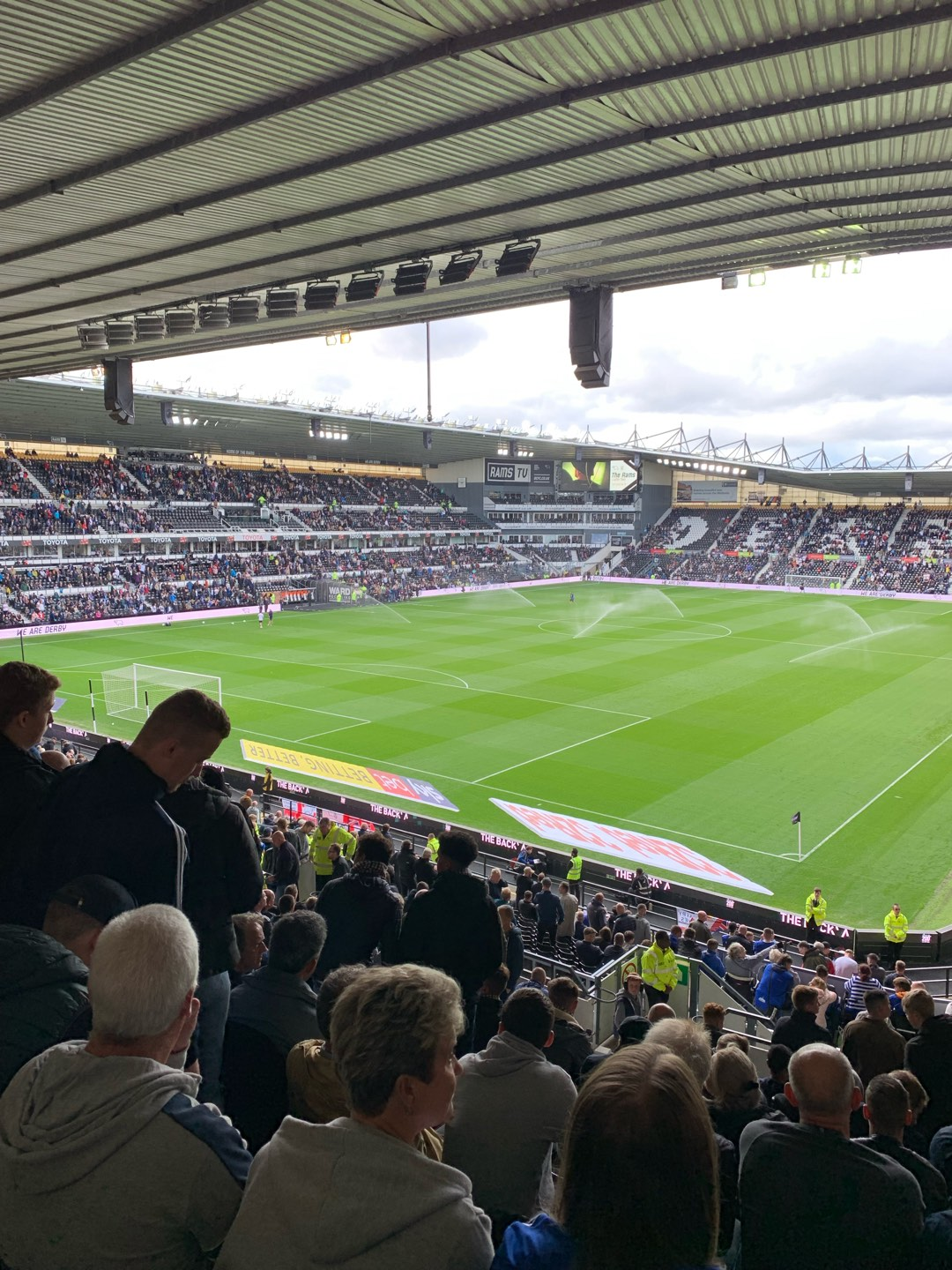 Pride Park Section Upper Block B Row S Seat 596