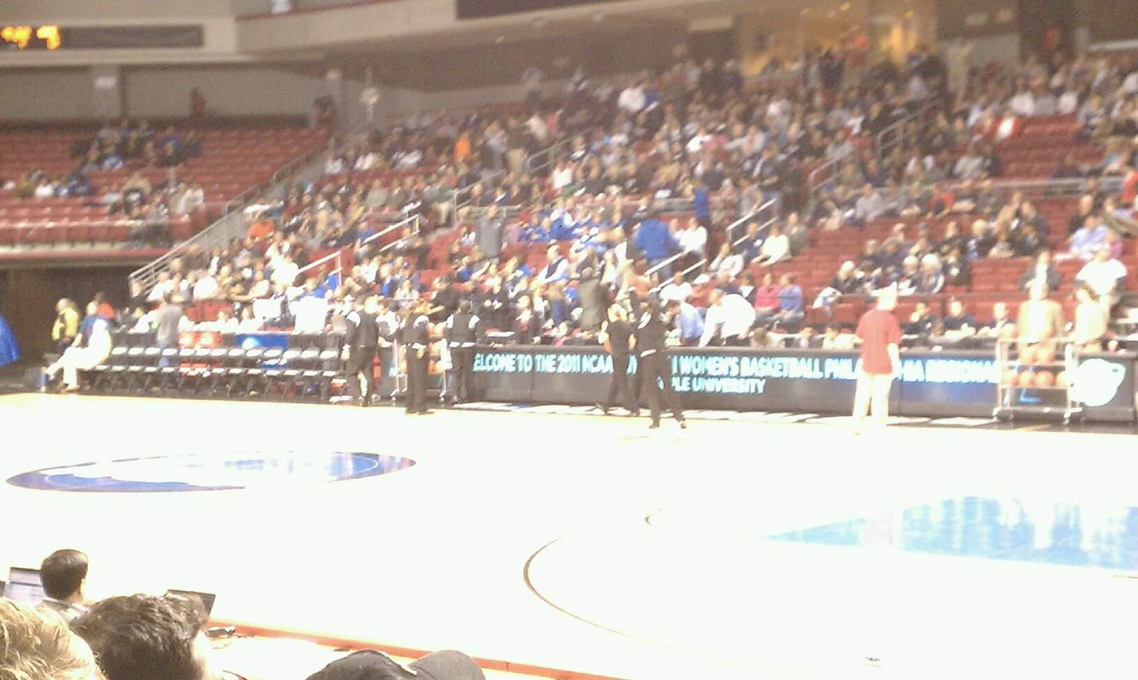 Liacouras Center Section 111 Row F Seat 1