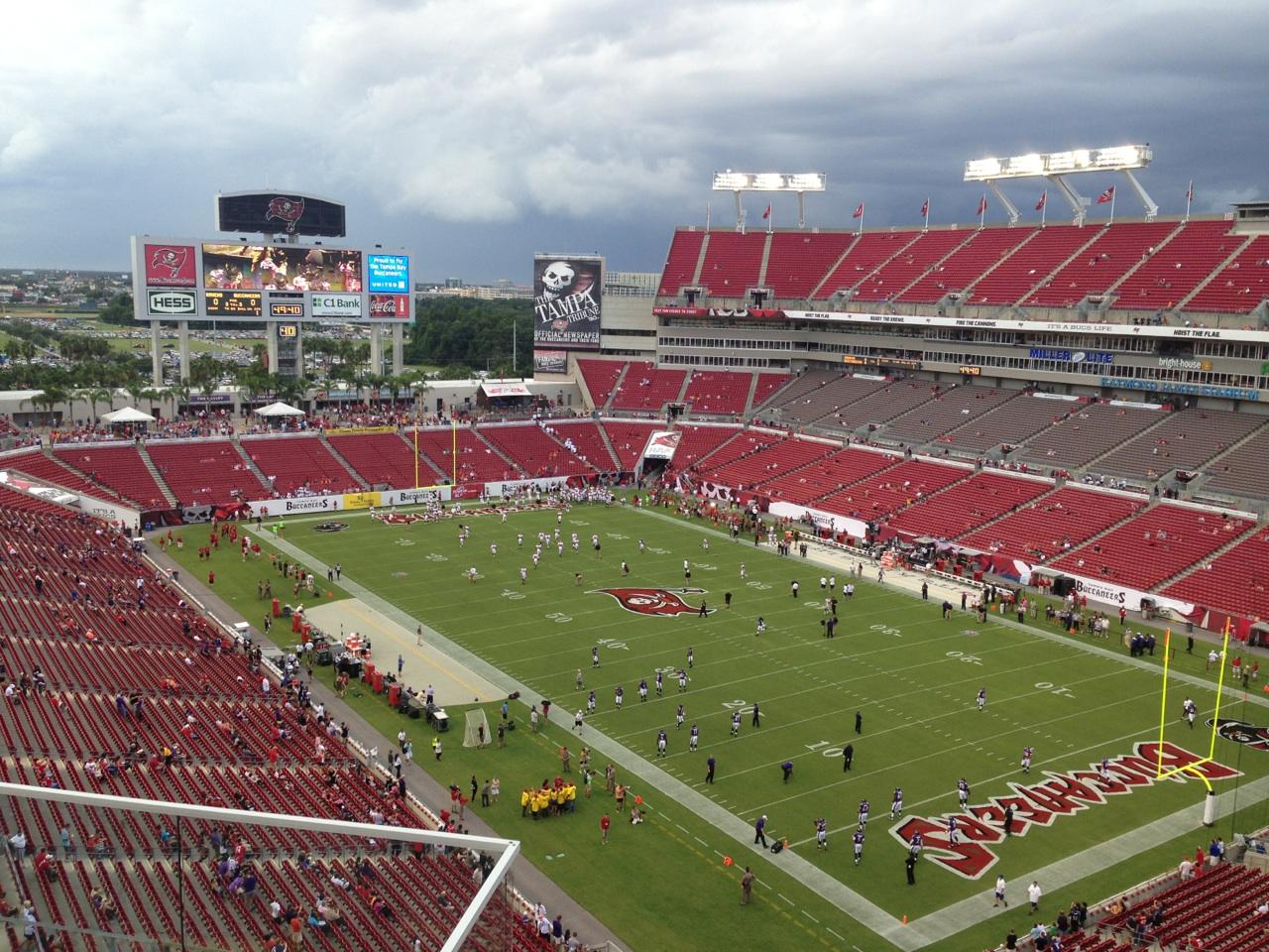 Tampa Bay Buccaneers - Raymond James Stadium Section 344 ...