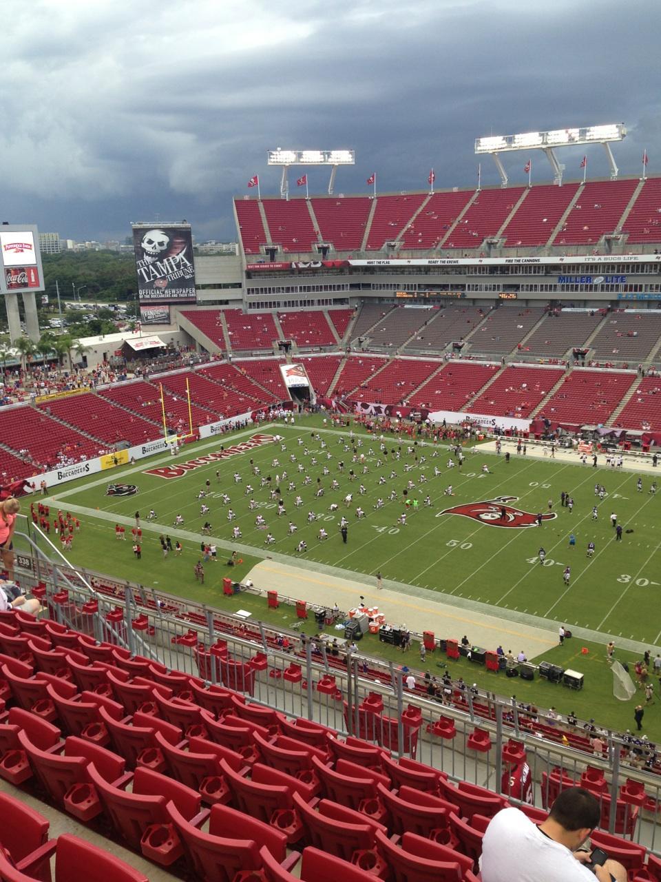 Raymond James Stadium section 338 row G seat 20 - Tampa ...