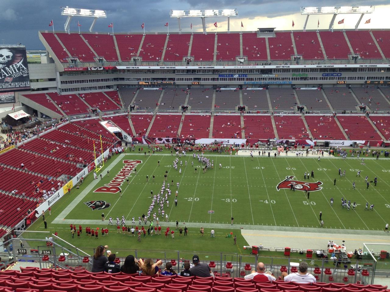 Tampa Bay Buccaneers - Raymond James Stadium Section 334 ...