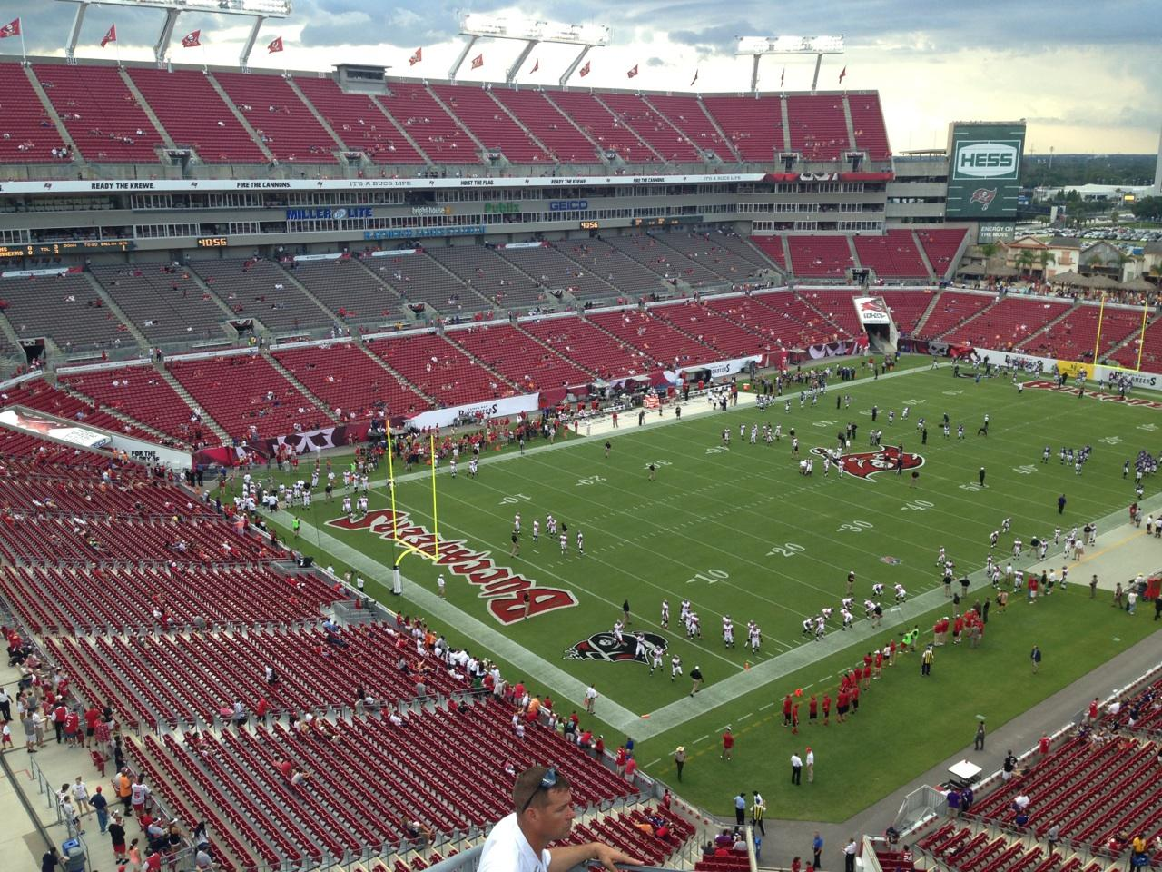 Raymond James Stadium section 327 row A seat 2 - Tampa Bay ...