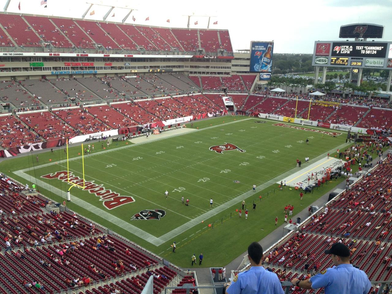 Raymond James Stadium section 302 row A seat 1 - Tampa Bay ...