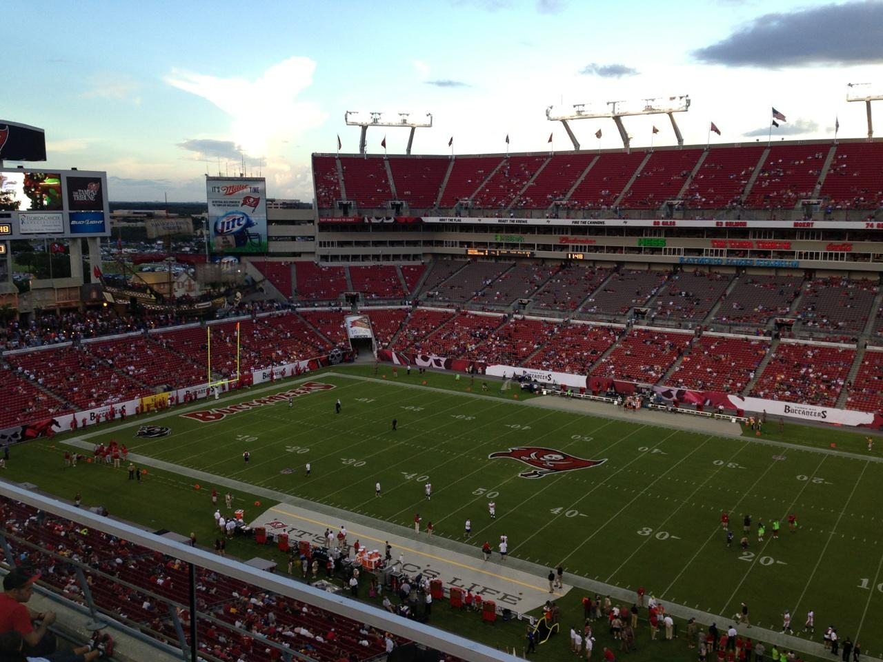 Raymond James Stadium section 314 row A seat 6 - Tampa Bay ...