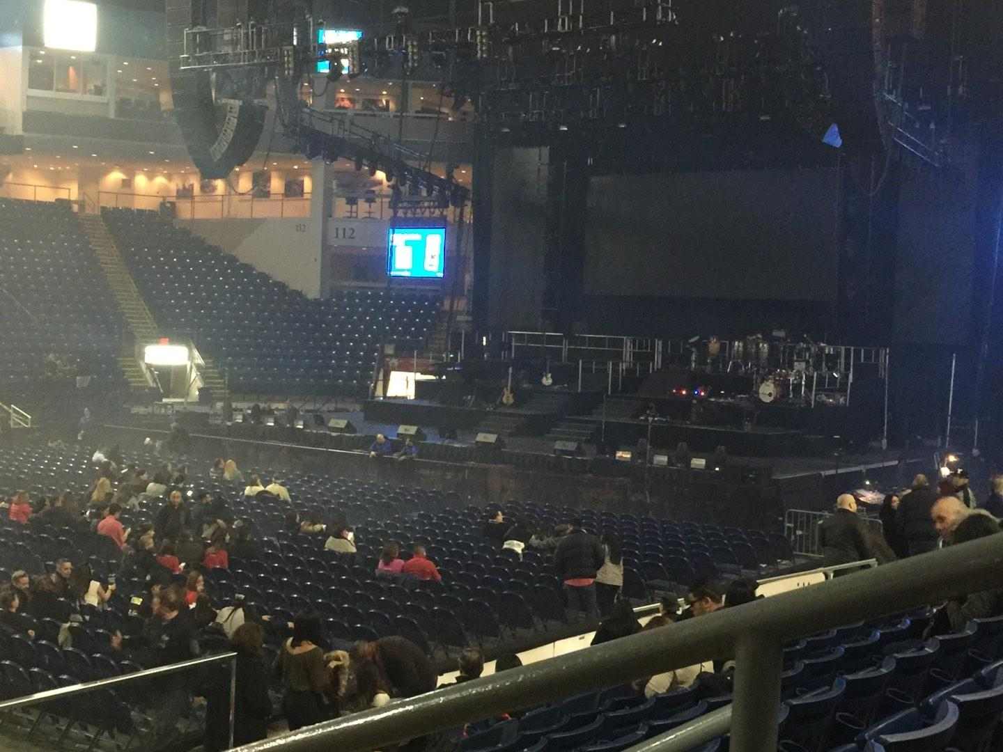 Webster Bank Arena Section 104 Row G Seat 1