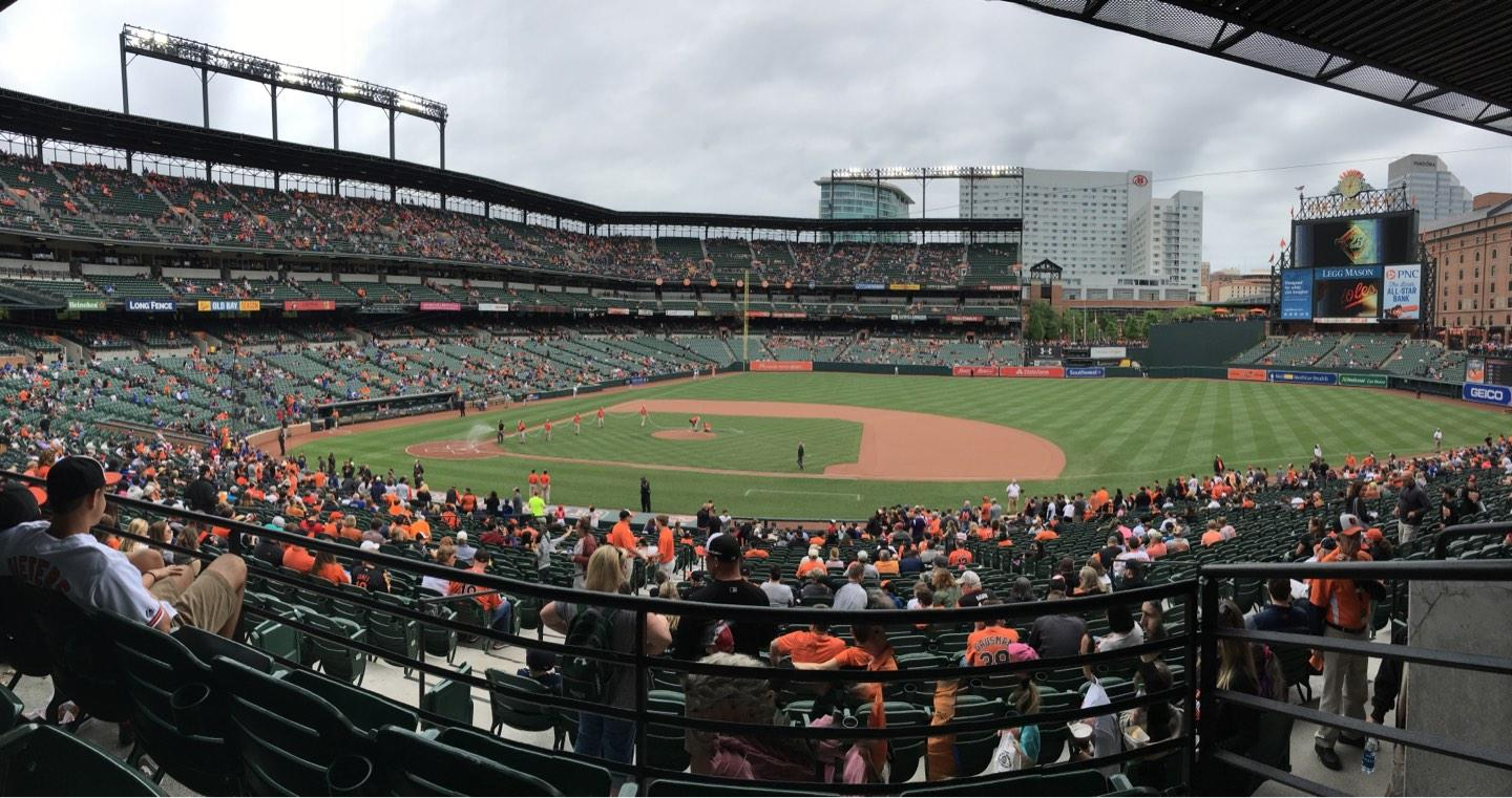 Oriole Park at Camden Yards Section 19 Row 3 Seat 1