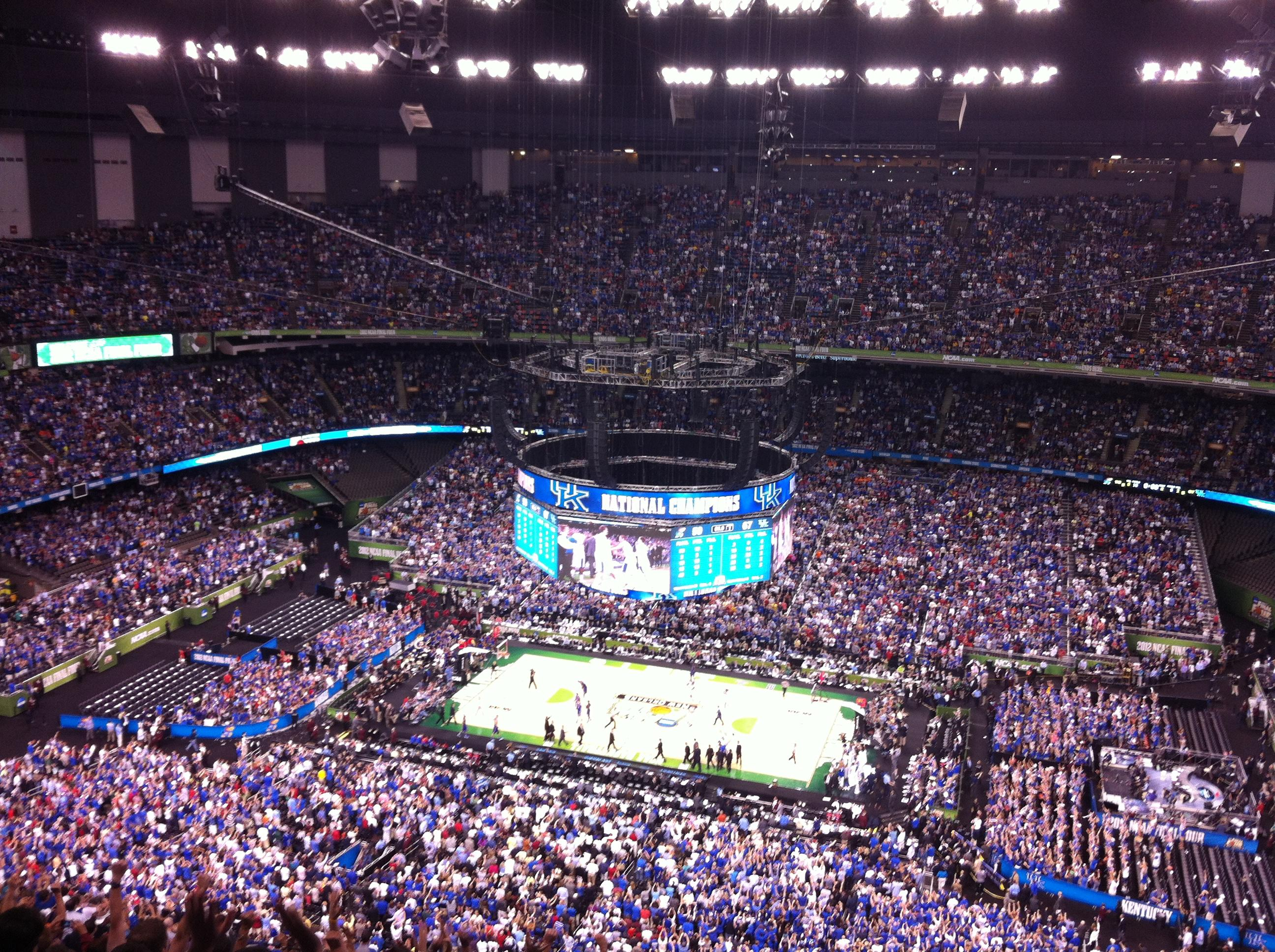 Superdome section 612 basketball seating for Best seats in mercedes benz superdome