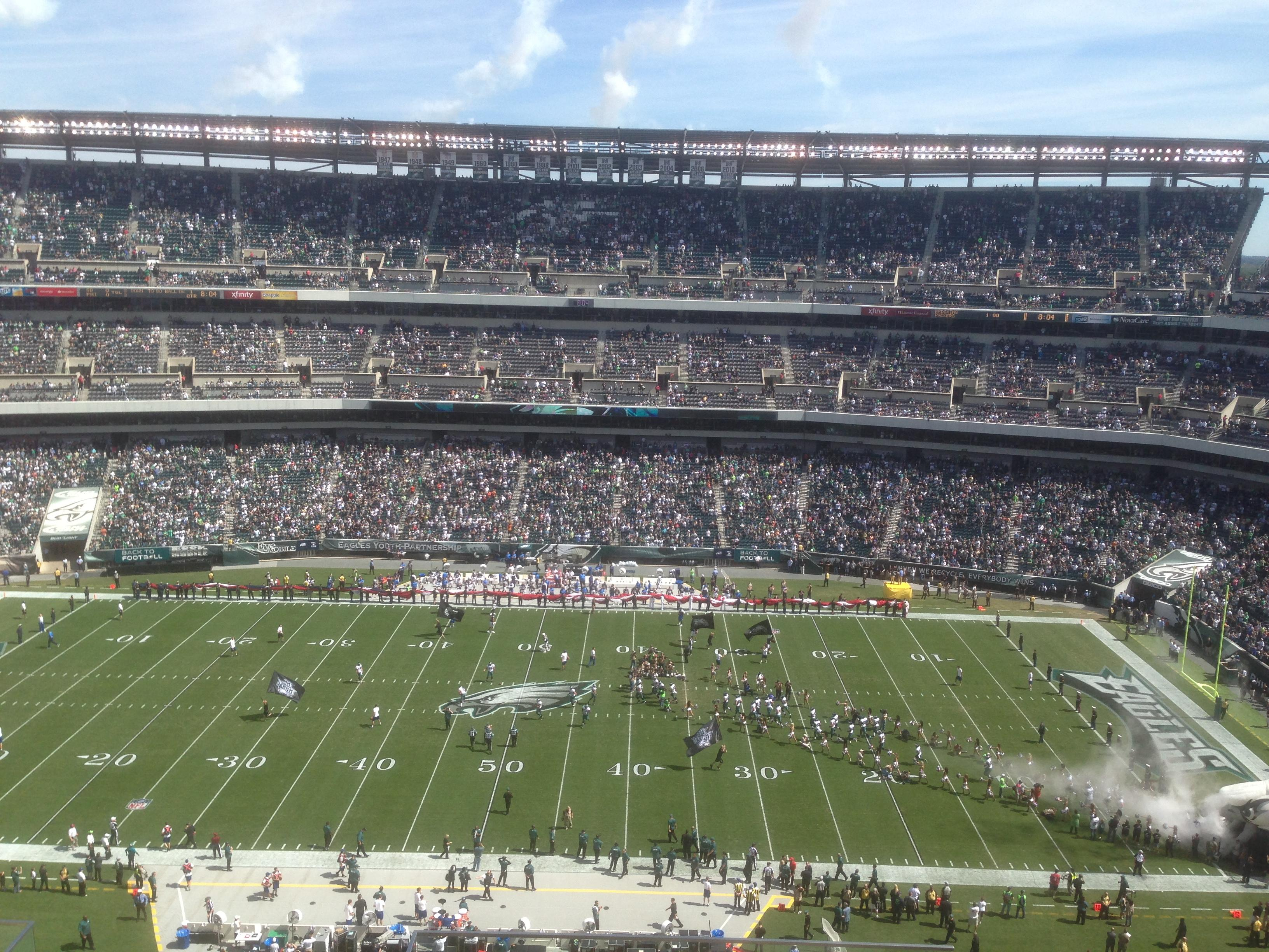 Lincoln Financial Field Section 201 Row 11 Seat 1
