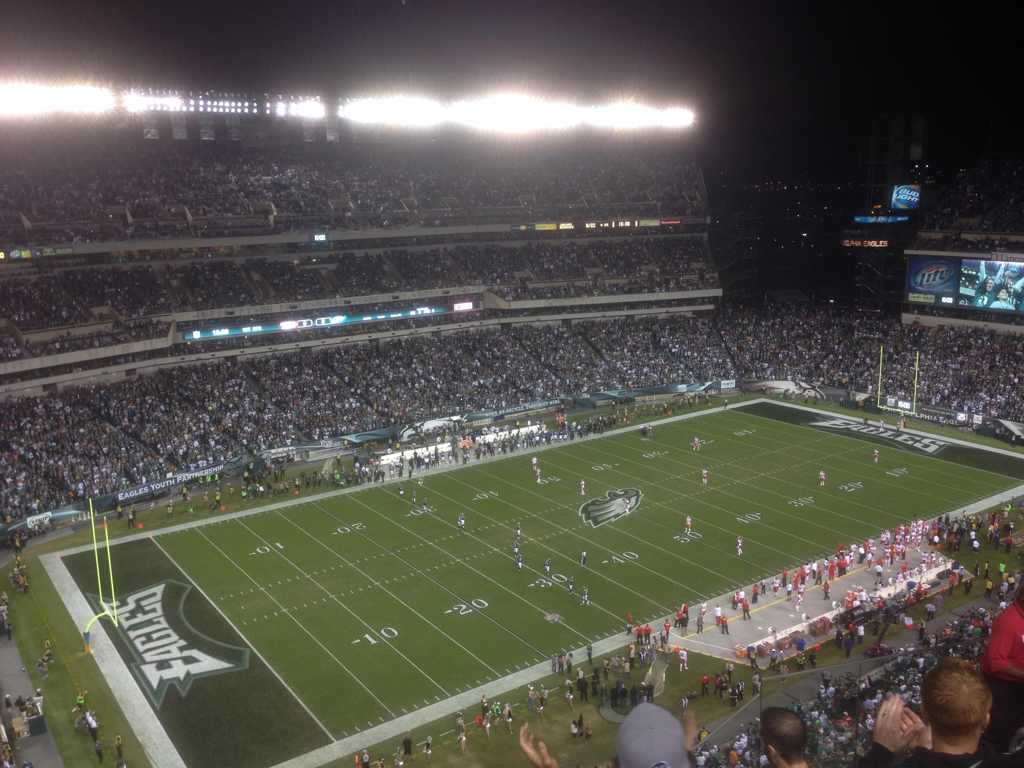 Lincoln Financial Field Section 220 Row 12 Seat 7
