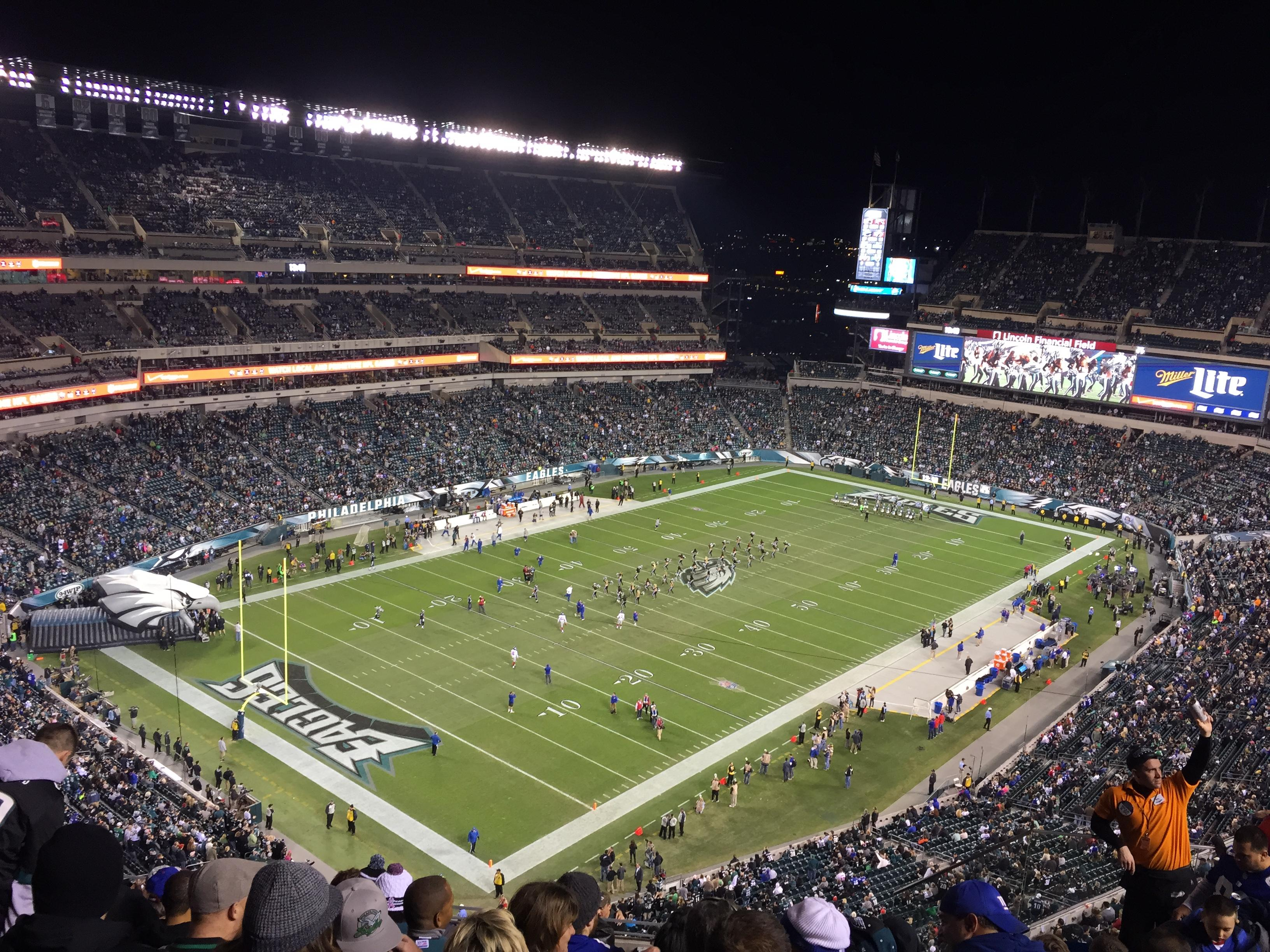 Philadelphia Eagles Lincoln Financial Field Section 218