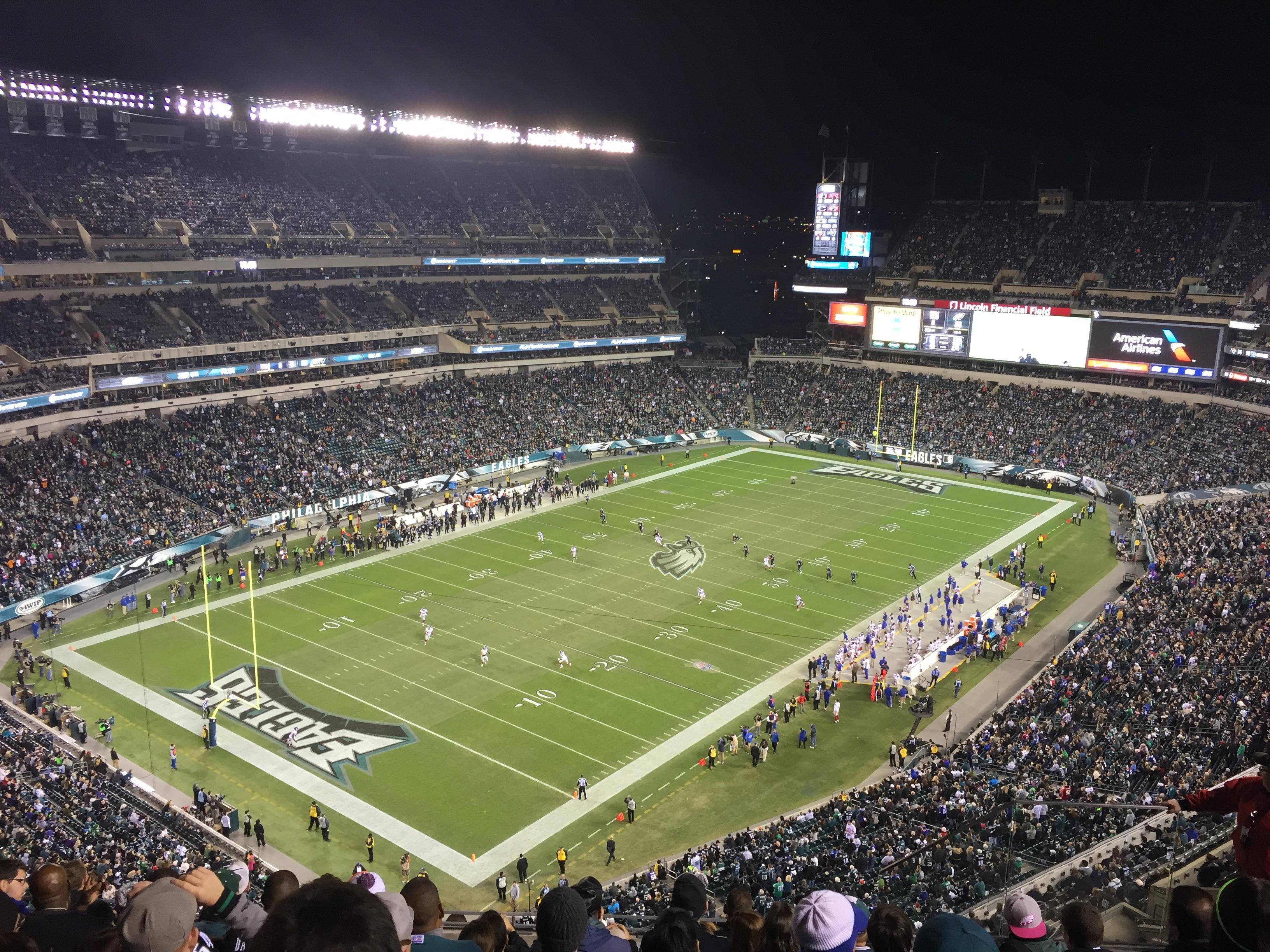 Lincoln Financial Field Section 218 - Philadelphia Eagles ...