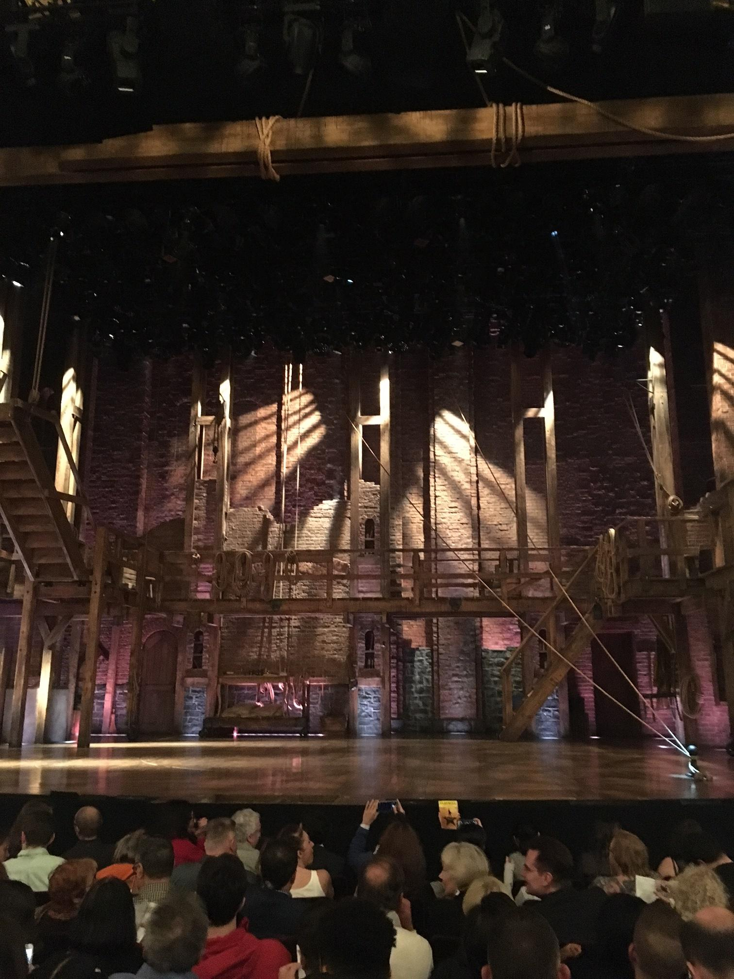 Richard Rodgers Theatre Section Orchestra C Row H Seat 104