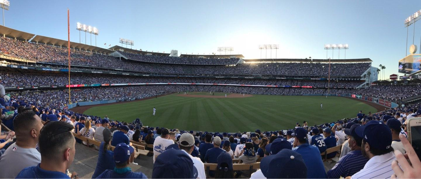 Dodger Stadium Section 308PL Row P Seat 1