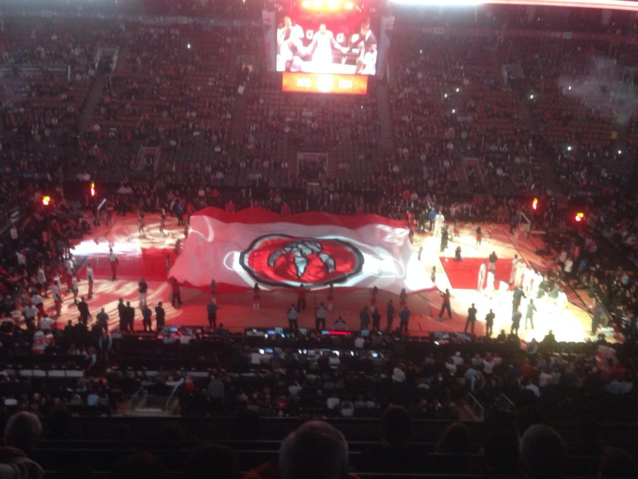 Toronto Raptors Seat View for Air Canada Centre Section 321, Row 7, Seat 14
