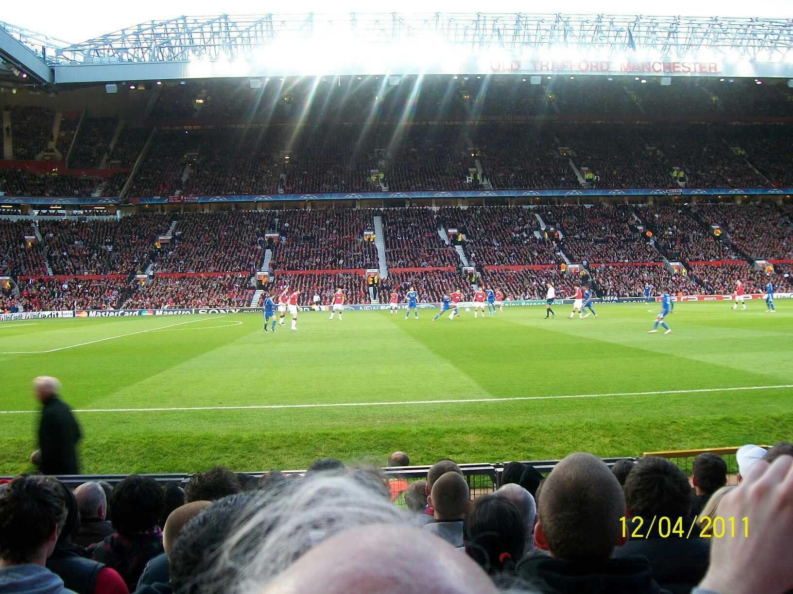 Old Trafford Section STH123 Row KK Seat 186