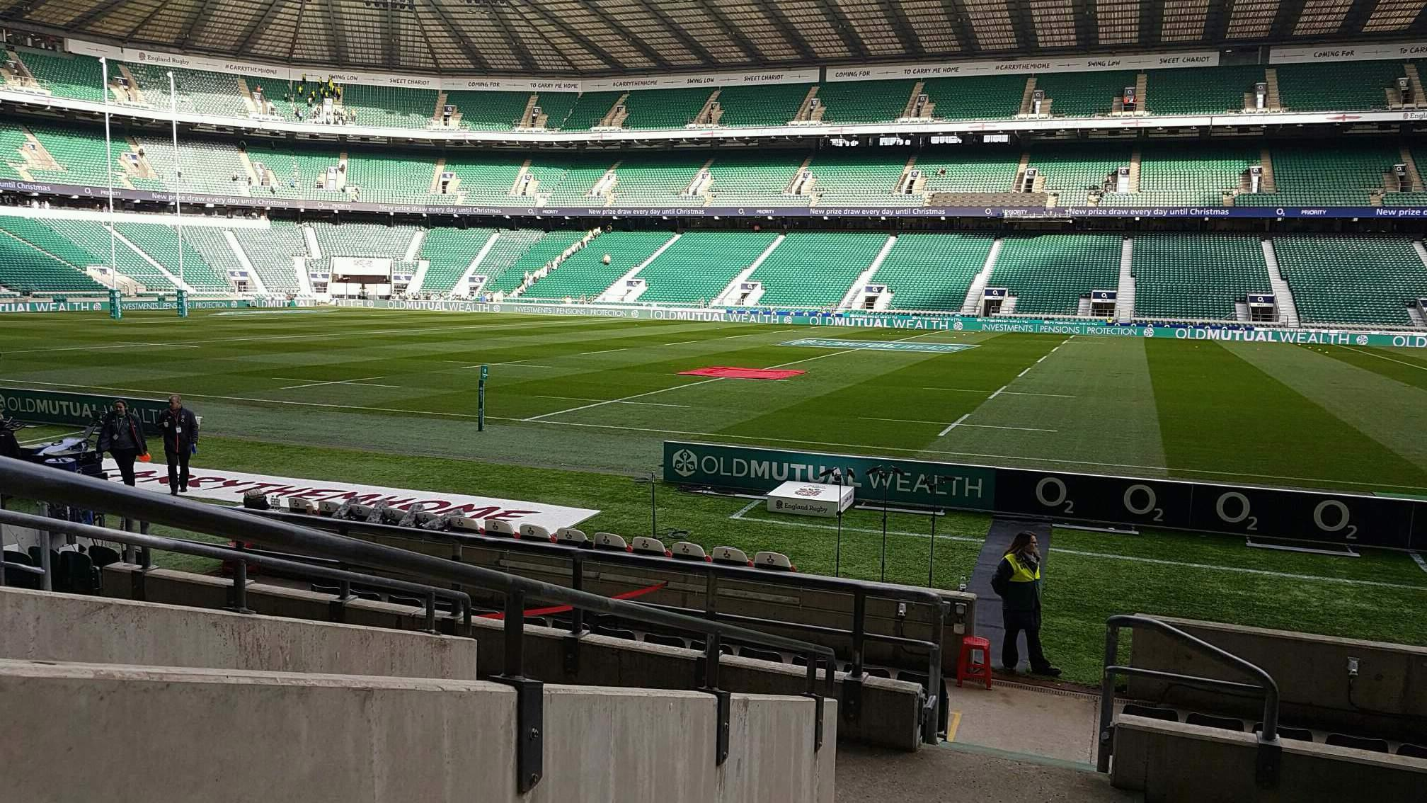 Twickenham Stadium Section L5 Row 14 Seat 222