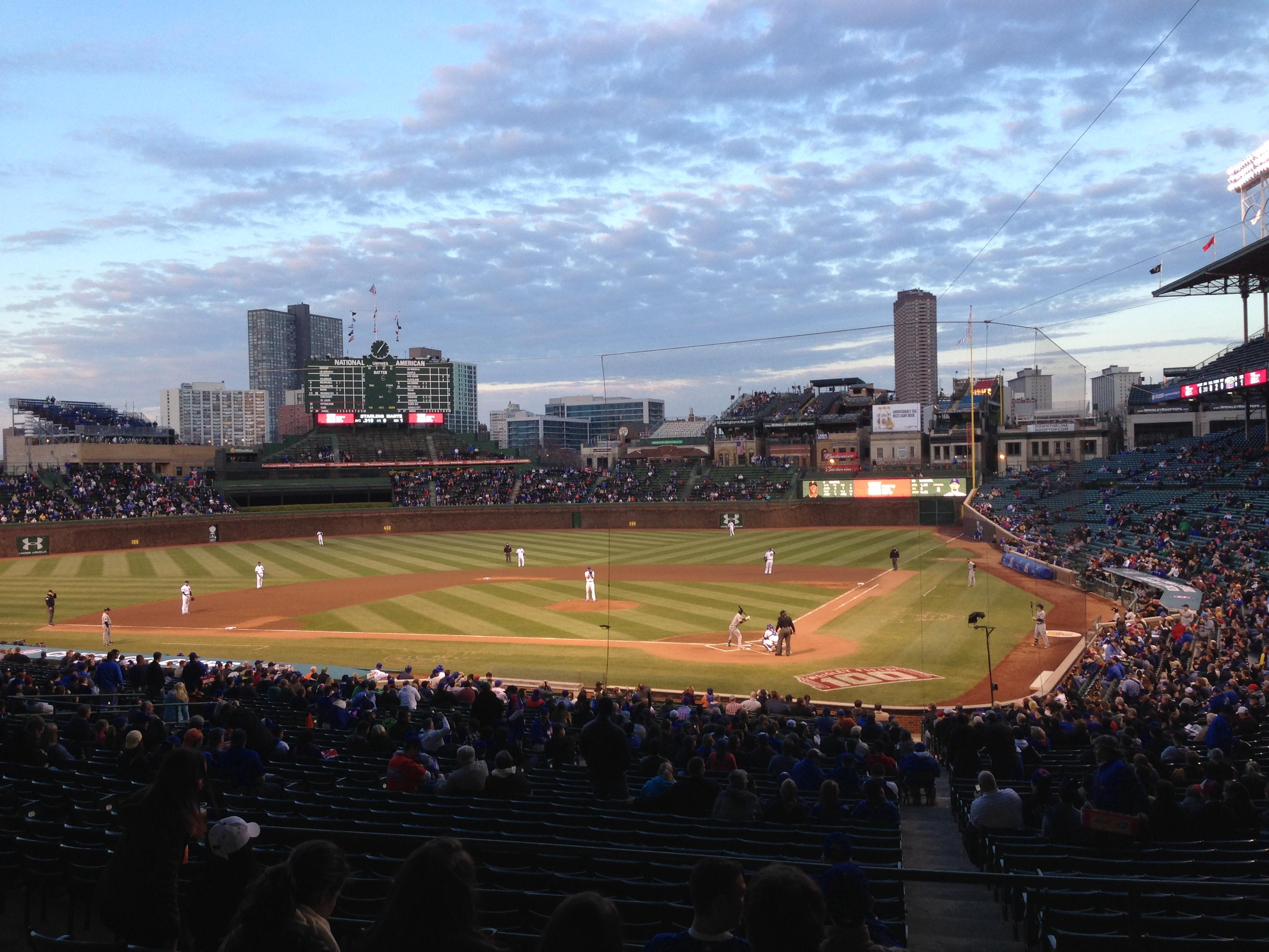 Wrigley Field section 218 row 7 seat 10 Chicago Cubs vs Pittsburgh