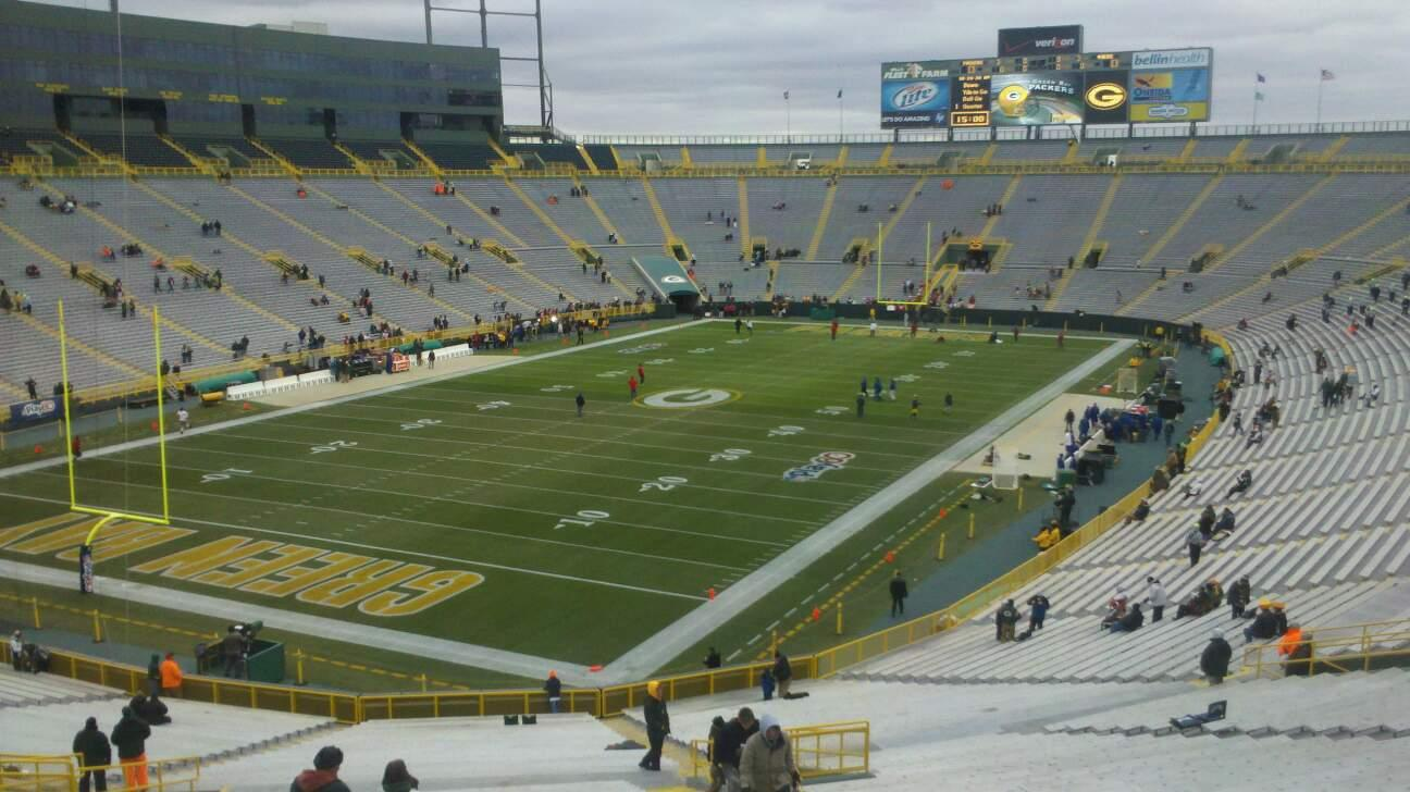 Lambeau Field Section 106 Row 57 Seat 7