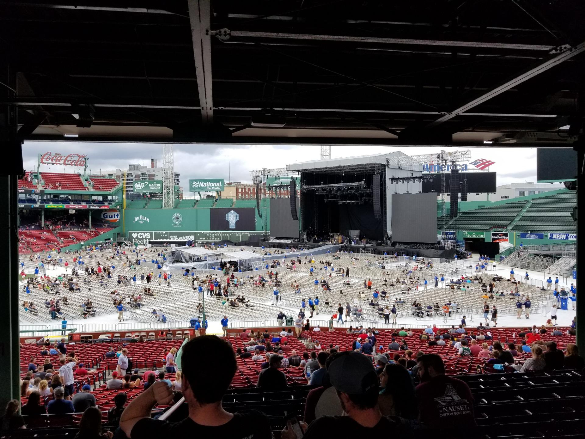 Fenway Park Section Grandstand 10 Row 12 Seat 12