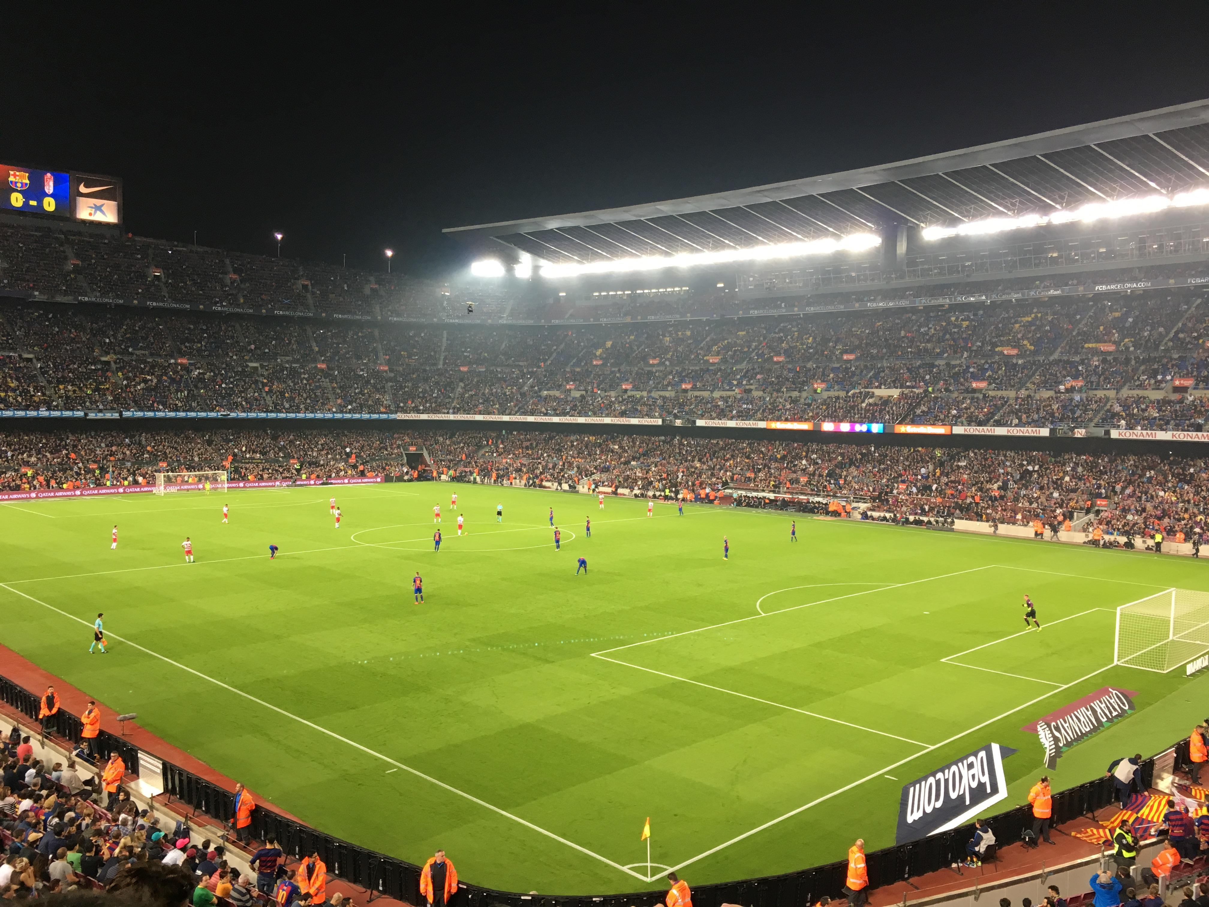 Camp Nou Section 238 Row 3 Seat 12