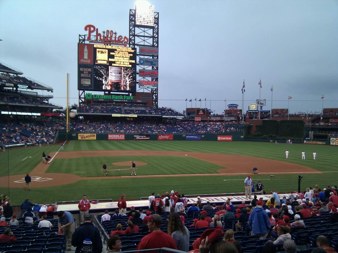 Citizens Bank Park Section 119 Row 25 Seat 5