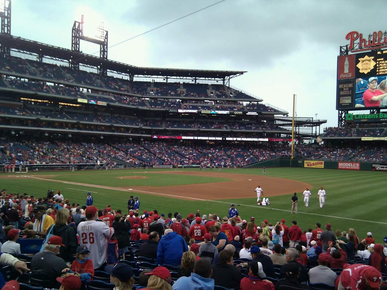 Citizens Bank Park Section 112 Row 22 Seat 10