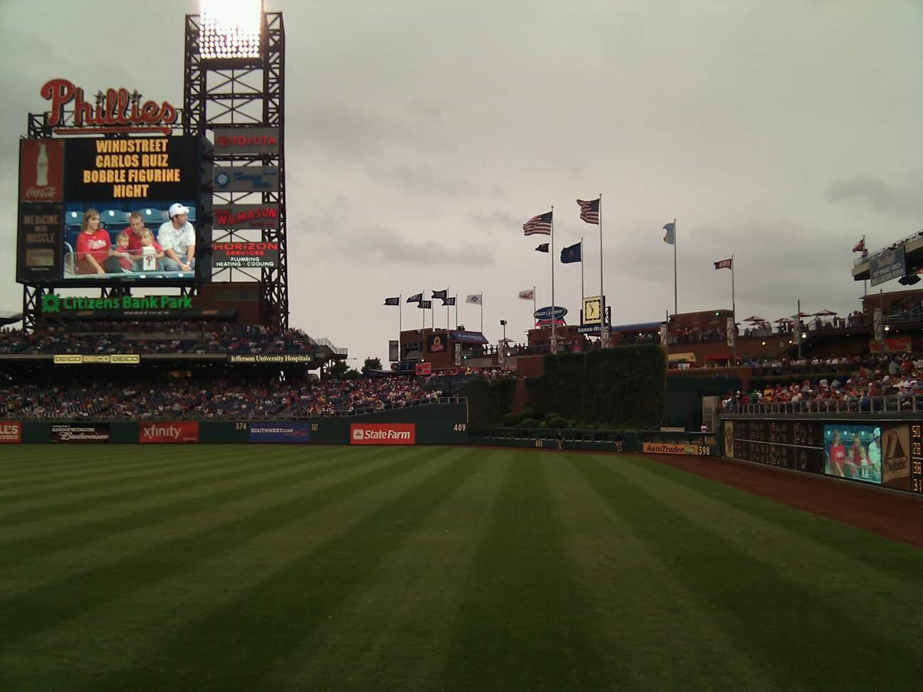 Citizens Bank Park Section 108 Row 12 Seat 17