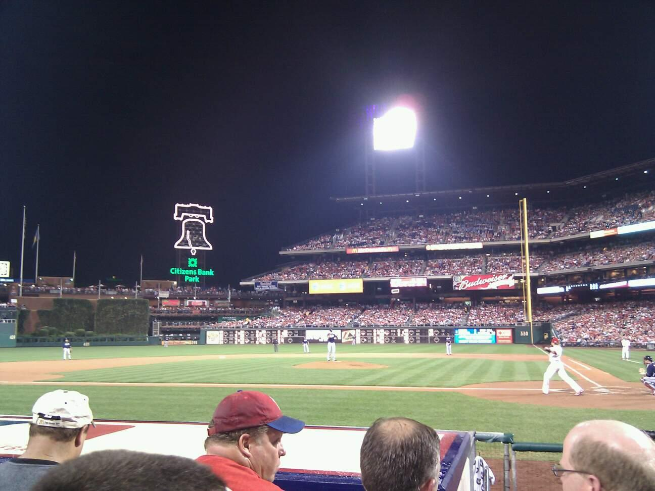 Citizens Bank Park Section A Row 7 Seat 8