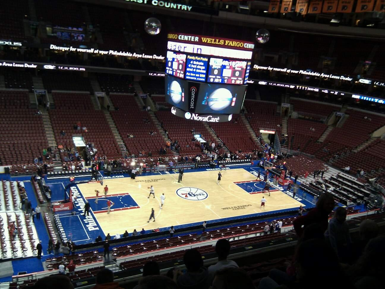 Wells Fargo Center Section 211 Row 7 Seat 3