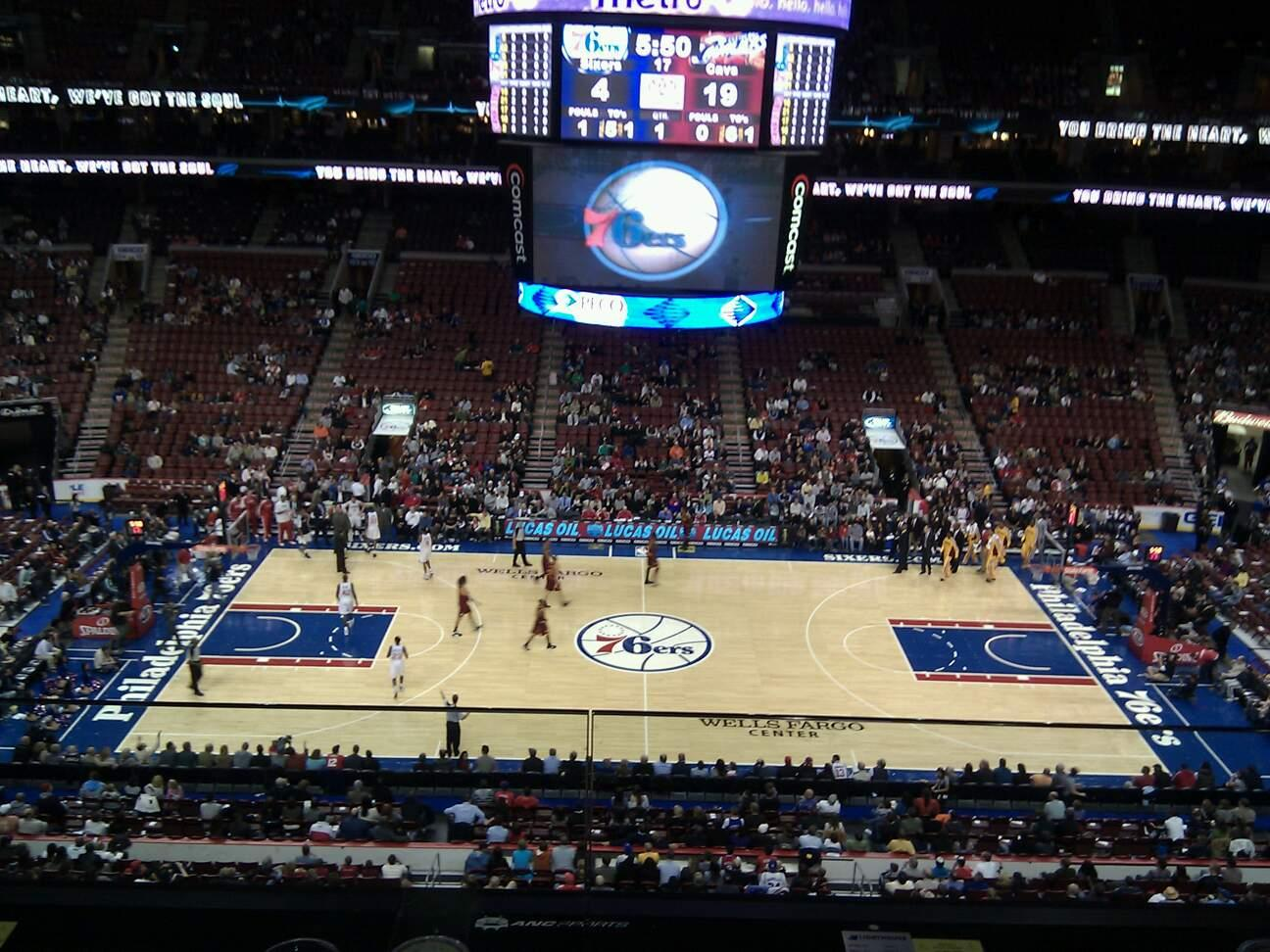Wells Fargo Center Section 213 Row 2 Seat 6