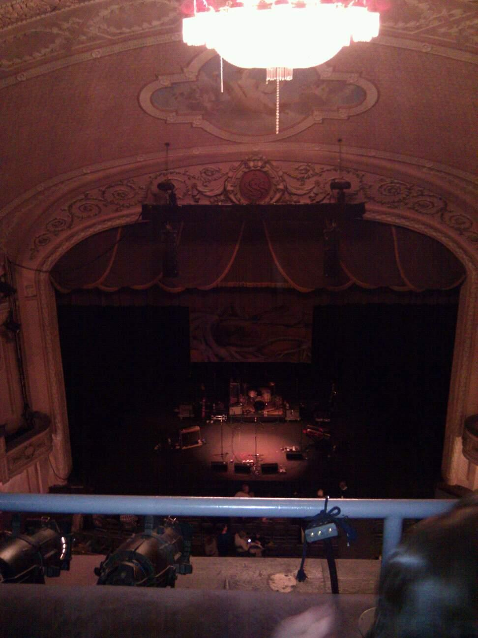 Merriam Theater Section family circle  Row b Seat 107