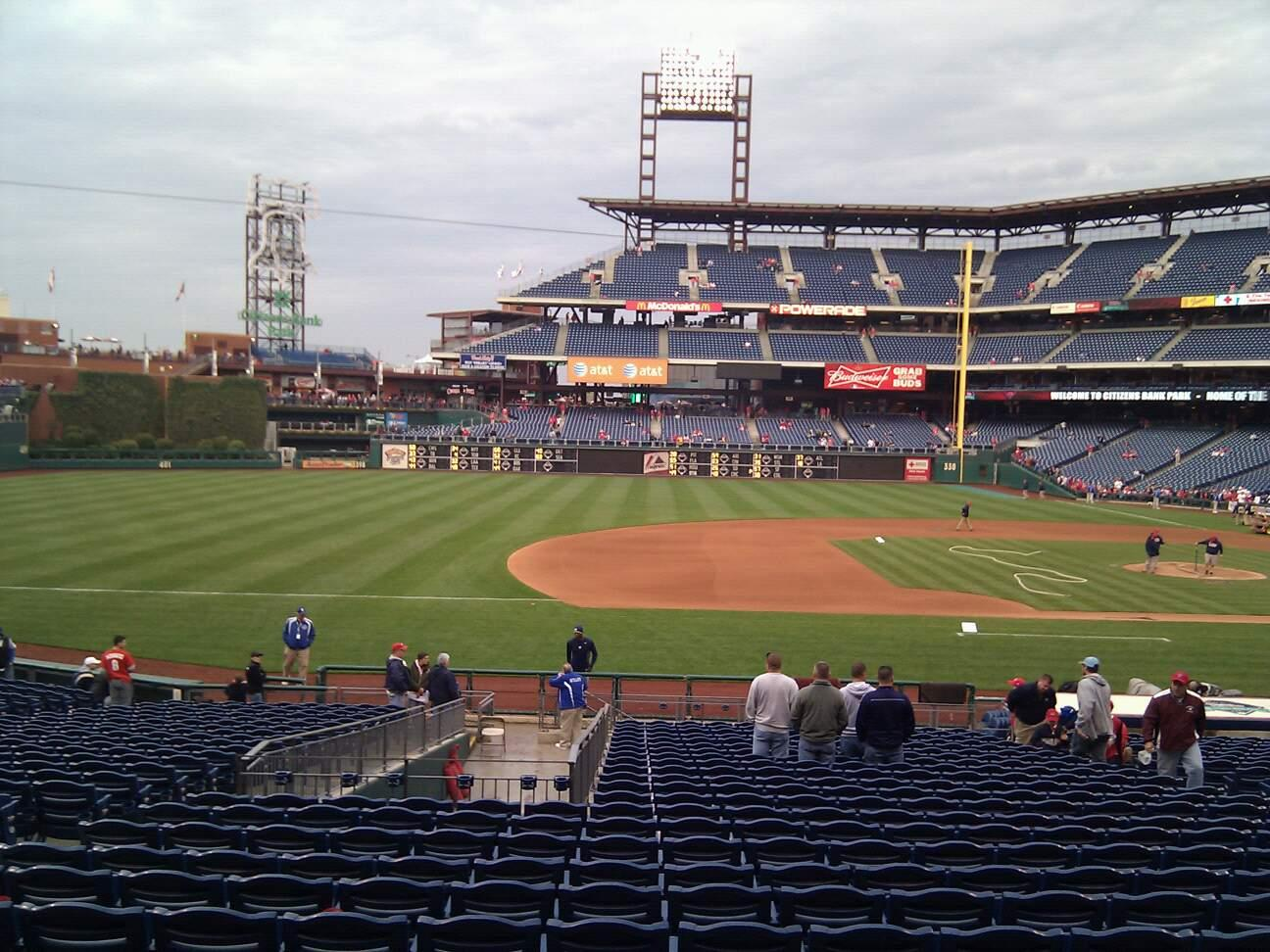 Citizens Bank Park Section 132 Row 28 Seat 12