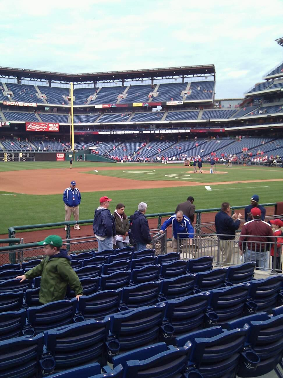 Citizens Bank Park Section 133 Row 10 Seat 8