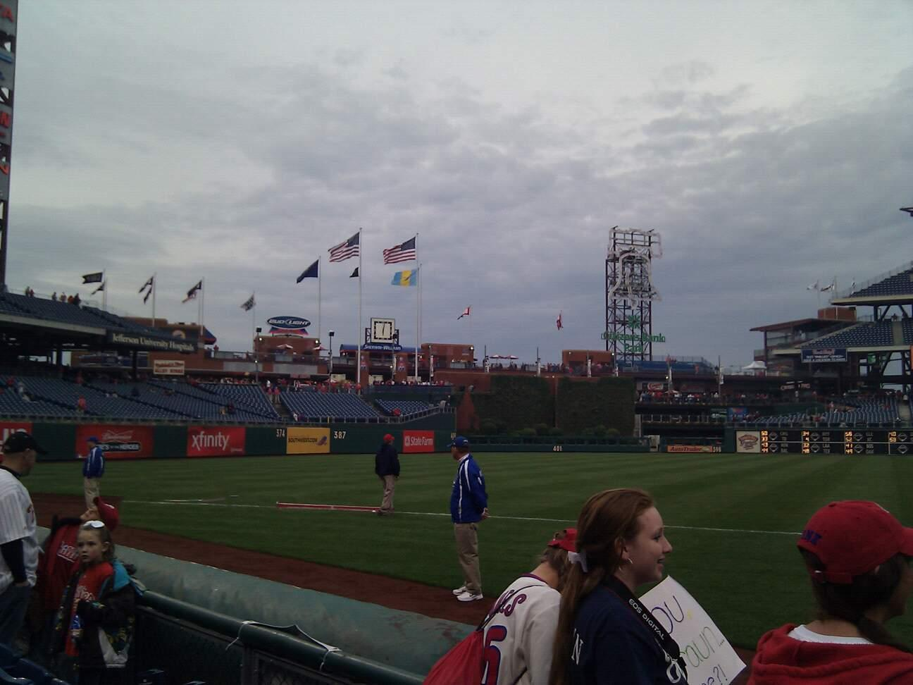 Citizens Bank Park Section 134 Row 3 Seat 8