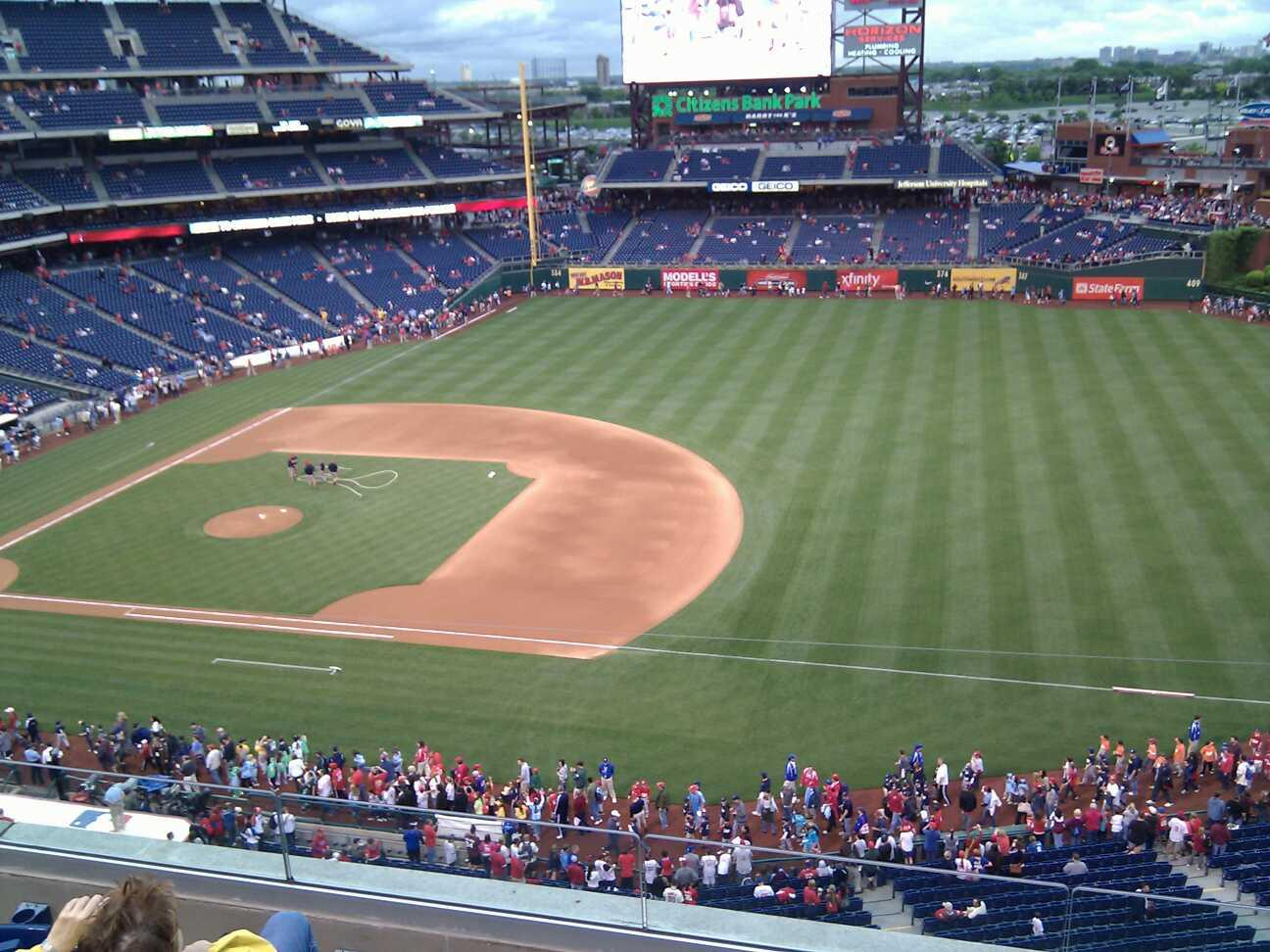 Citizens Bank Park Section 313 Row 5 Seat 4