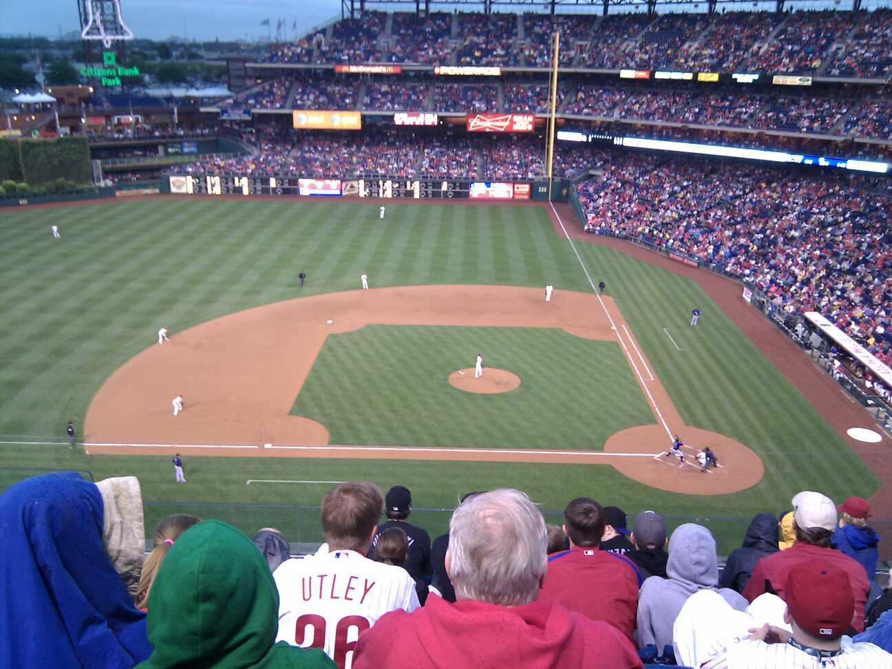 Citizens Bank Park Section 325 Row 7 Seat 19