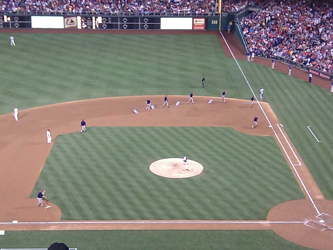 Citizens Bank Park Section 325 Row 7 Seat 20