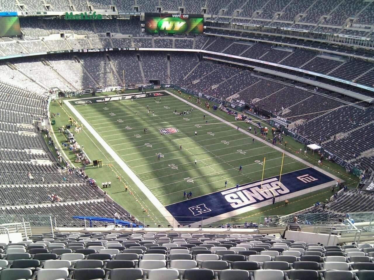 Metlife Giants Stadium Metlife Stadium Section 305 Row 22