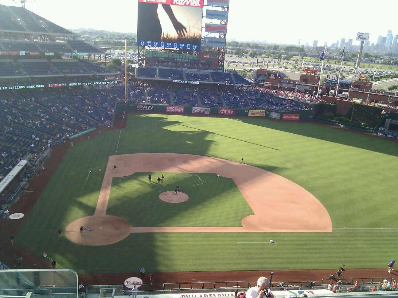 Citizens Bank Park Section 416 Row 3 Seat 24