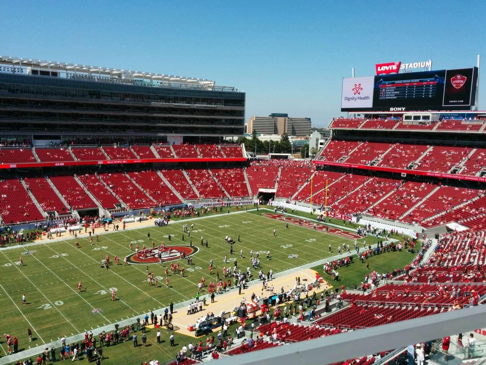View from Section 318 at Levis Stadium