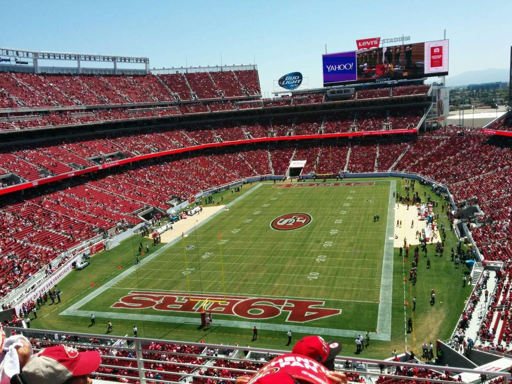 Levi S Stadium Section 301 Row 4 Seat 36 San Francisco