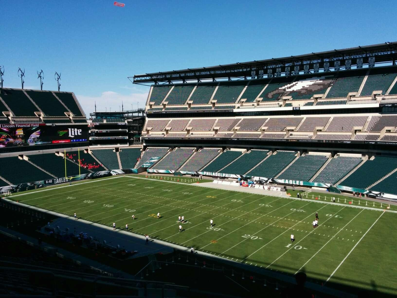Lincoln Financial Field Section c5 Row 18 Seat 16