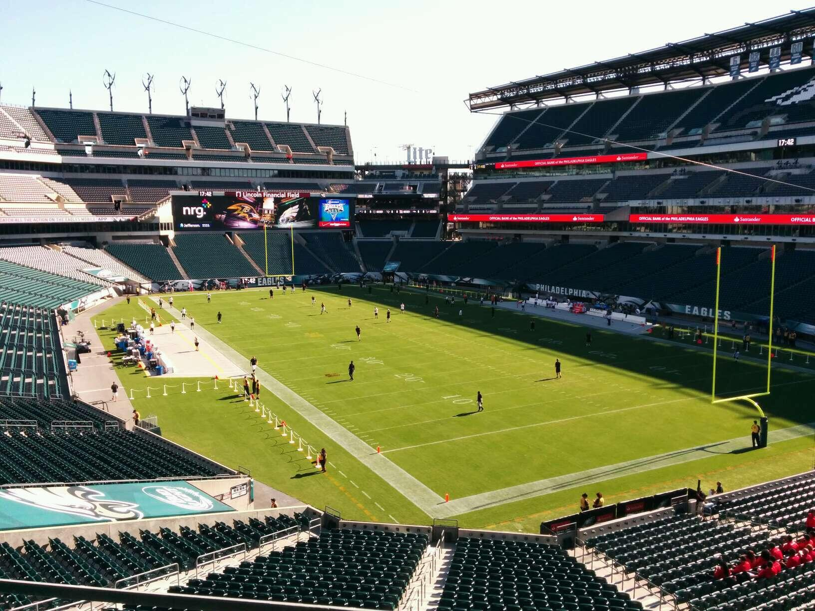 Lincoln Financial Field Section NE Terrace 2 Row 2 Seat 21
