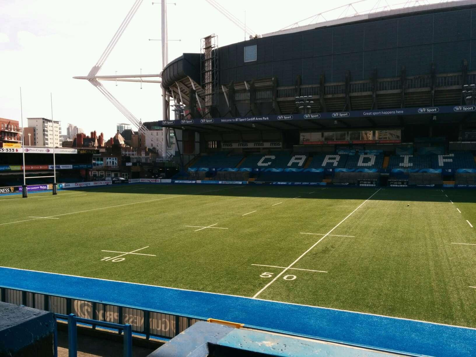 Cardiff Arms Park Section 13 Row b Seat 6